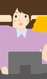 パソコンを操作す女性のイラスト