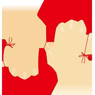 赤い糸のイラスト